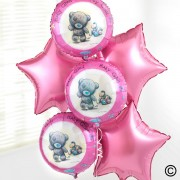 Me to You Baby Girl Balloon Bouquet