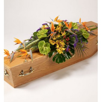 Exotic Selection Casket Spray