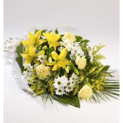 Flowers in Cellophane - Yellow