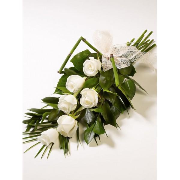 Букет из белых роз на свадьбу в подарок 83