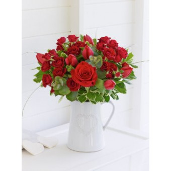 Rose And Tulip Arrangement