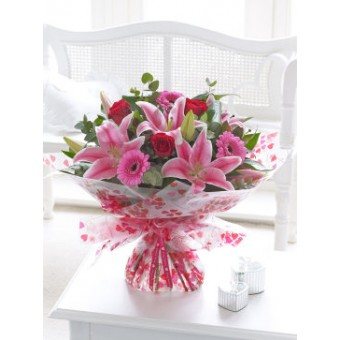 Valentine Rose, Lilly and germini Hand-Tied
