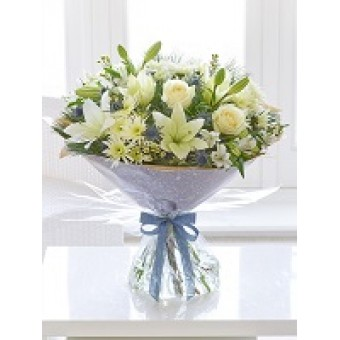 Large Frosted Beauty Hand-Tied